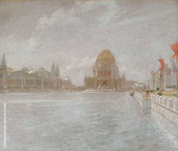 Court of Honor, World's Columbian Exposition 1893 by John Henry Twachtman | Oil Painting Reproduction Replica On Canvas - Reproduction Gallery