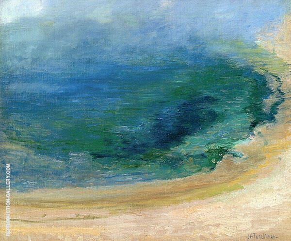 Edge of the Emerald Pool Yellowstone 1895 by John Henry Twachtman | Oil Painting Reproduction Replica On Canvas - Reproduction Gallery