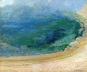 Edge of the Emerald Pool Yellowstone 1895 By John Henry Twachtman