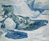 Falls In January 1895 By John Henry Twachtman