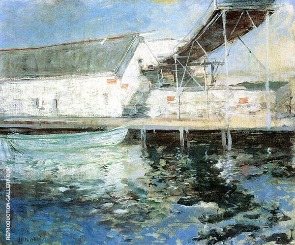 Fish Sheds Gloucester Massachusetts 1902 By John Henry Twachtman