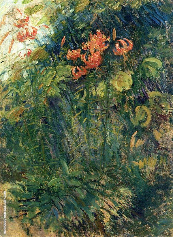 Tiger Lilies c1900 By John Henry Twachtman
