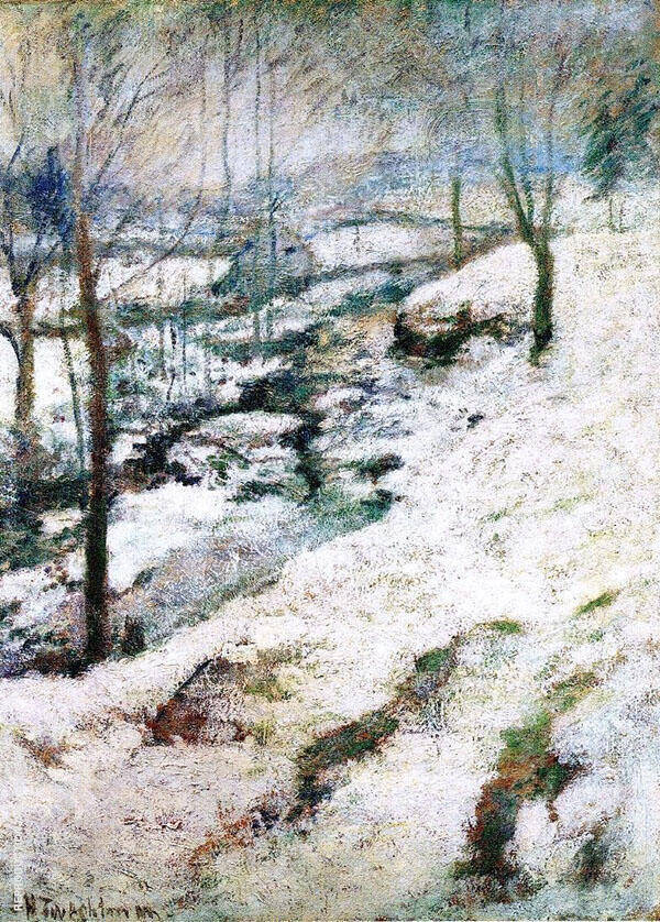 Frozen Brook c1893 By John Henry Twachtman