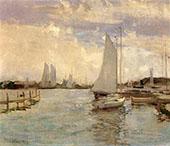 Gloucester Harbor By John Henry Twachtman