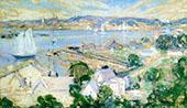 Gloucester Harbor c1900 By John Henry Twachtman