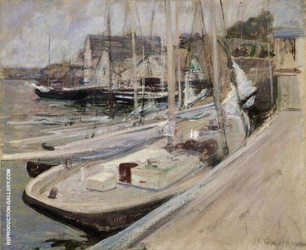 Fishing Boats, Gloucester Harbor c1901 By John Henry Twachtman