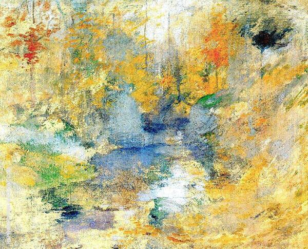 Hemlock Pool Autumn c1900 By John Henry Twachtman