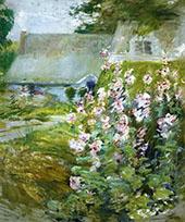 Hollyhocks 1892 By John Henry Twachtman