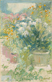 In the Greenhouse 1895 By John Henry Twachtman