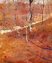 Autumn Landscape By John Henry Twachtman