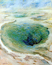 Morning Glory Pool Yellowstone 1895 By John Henry Twachtman