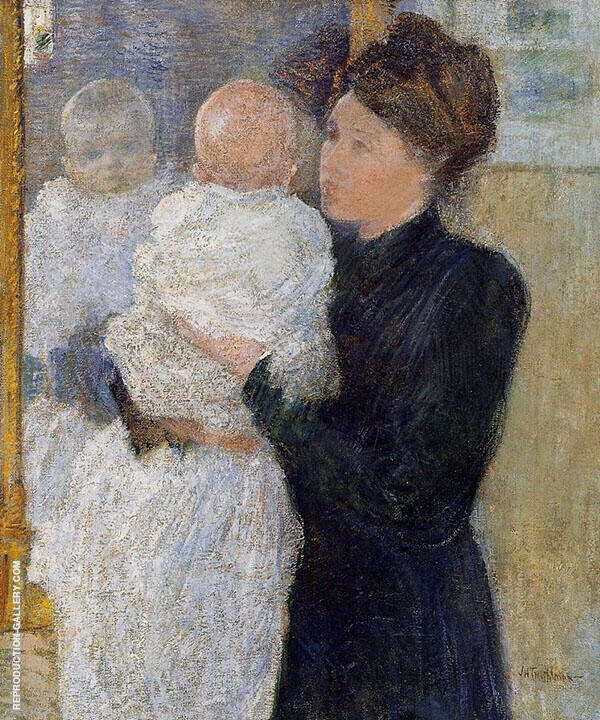 Mother and Child 1893 By John Henry Twachtman