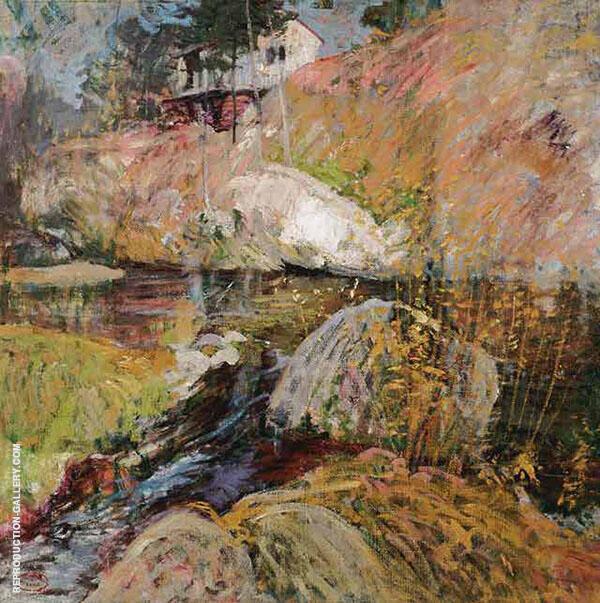 My Summer Studio c1900 By John Henry Twachtman
