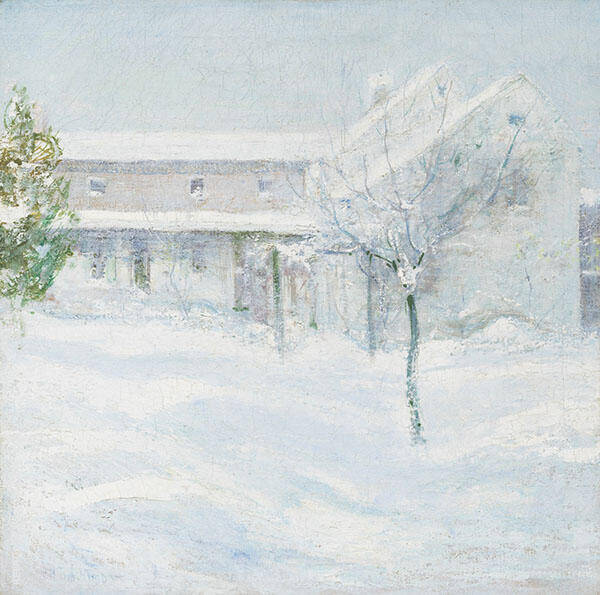 Old Holley House, Cos Cob 1901 By John Henry Twachtman
