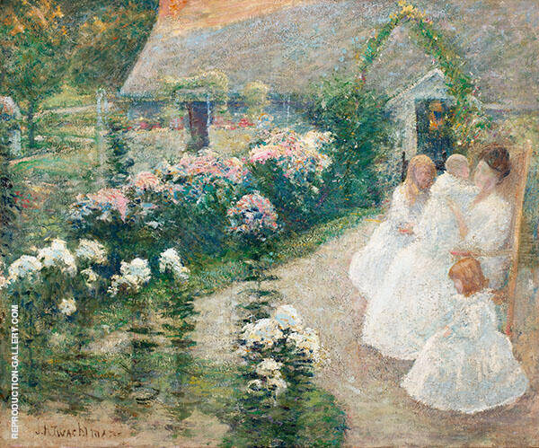 On the Terrace 1901 by John Henry Twachtman | Oil Painting Reproduction Replica On Canvas - Reproduction Gallery