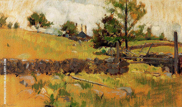 Spring Landscape 1891 Painting By John Henry Twachtman