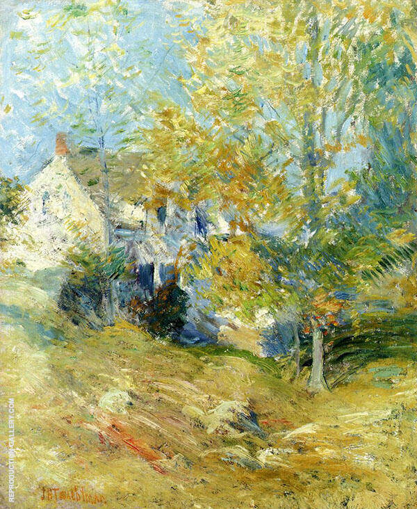 The Artist's House Through the Trees. Autumn Afternoon c1895 By John Henry Twachtman