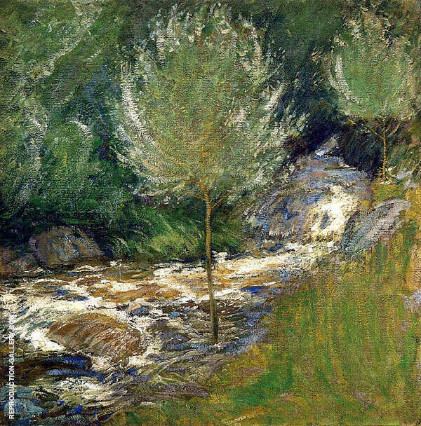 Horseneck Falls, Greenwich, Connecticut By John Henry Twachtman