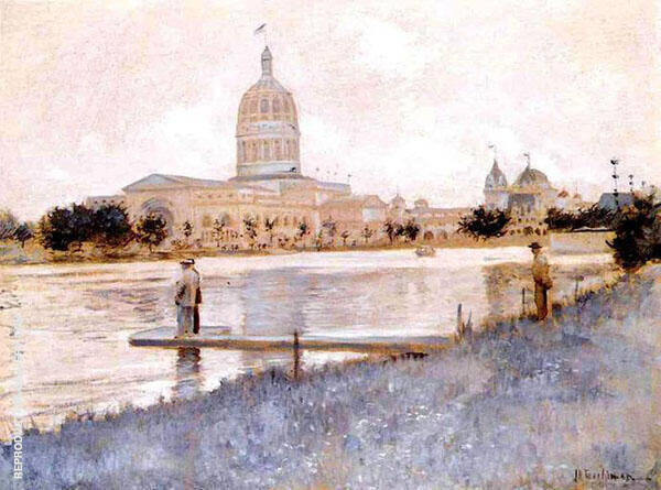 The Chicago World Fair Illinois Building c1893 By John Henry Twachtman