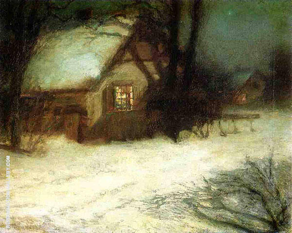 The Christmas Tree Painting By John Henry Twachtman - Reproduction Gallery