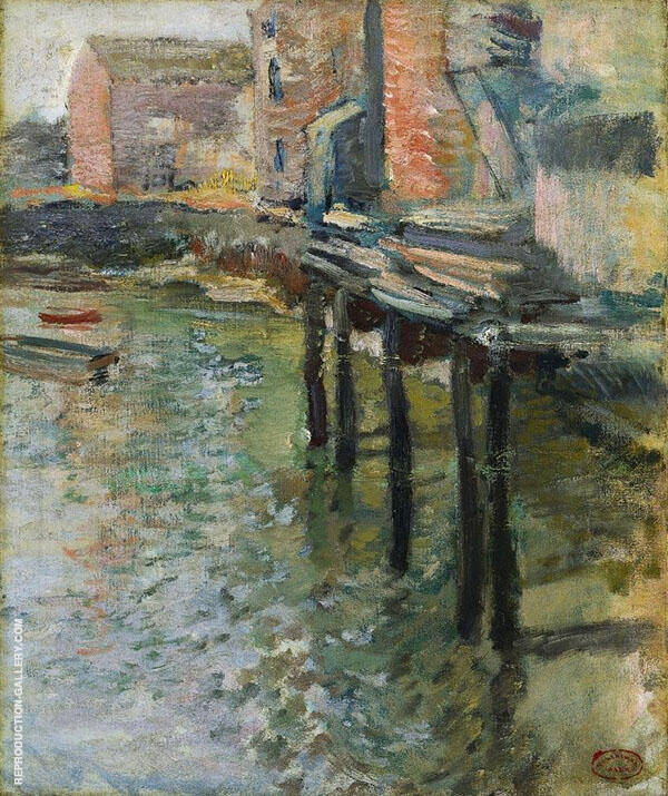 The Old Mill at Cos Cobb c1900 By John Henry Twachtman