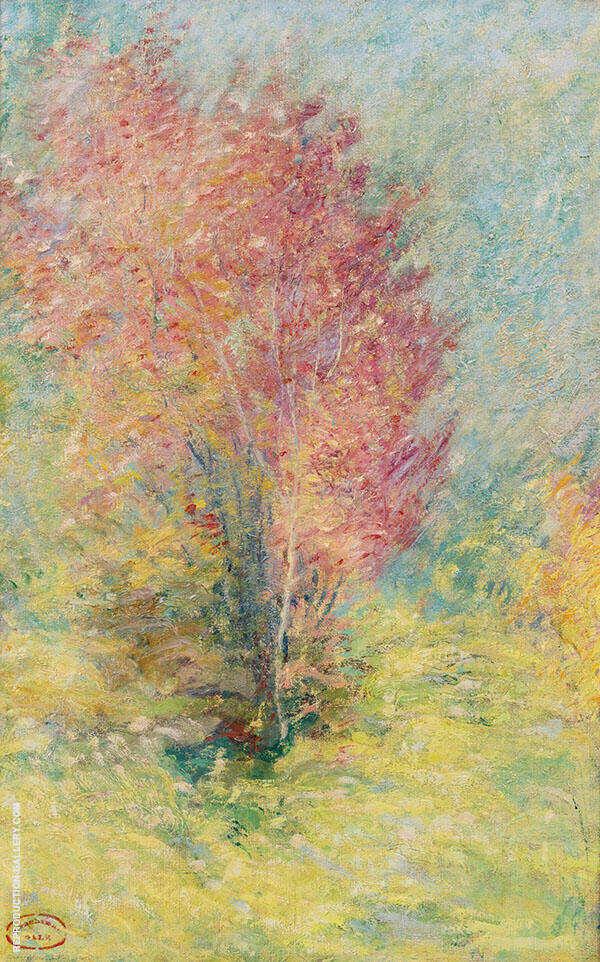 The Red Maple 1890 By John Henry Twachtman