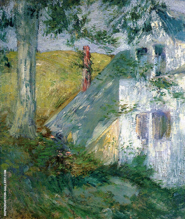 The Summer House Painting By John Henry Twachtman - Reproduction Gallery