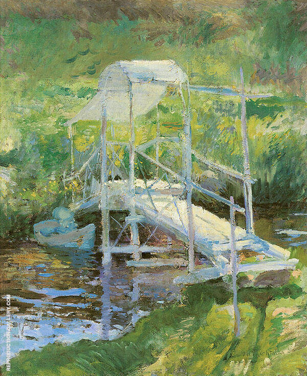 The White Bridge 1900 Painting By John Henry Twachtman