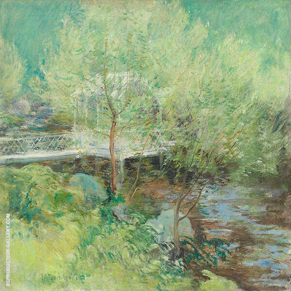 The White Bridge 1895 Painting By John Henry Twachtman