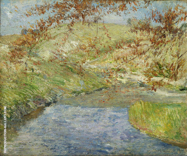 The Winding Brook 1890 By John Henry Twachtman