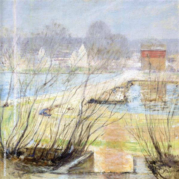 View from the Holley House 1901 Painting By John Henry Twachtman