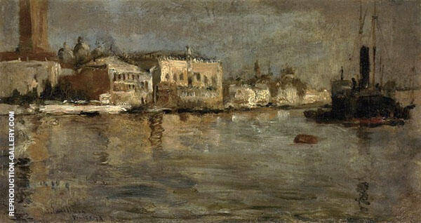 View of Venice 1878 Painting By John Henry Twachtman