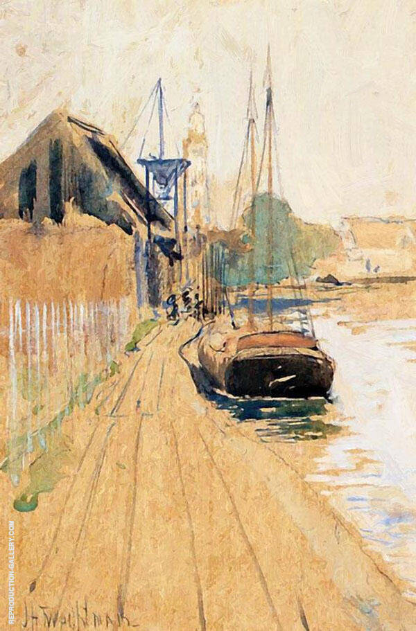 Waterside Scene 1889 By John Henry Twachtman
