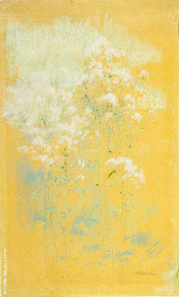Wild Flowers Painting By John Henry Twachtman - Reproduction Gallery