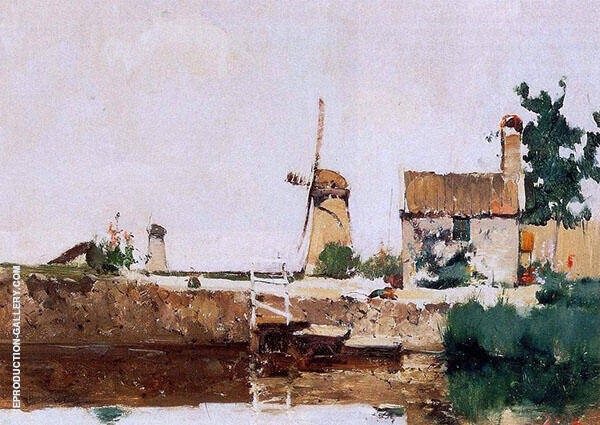 Windmills Dordrecht 1881 By John Henry Twachtman