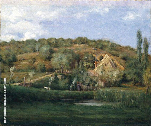 A French Homestead By J. Alden Weir