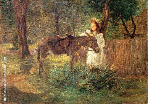 After The Ride Aka Visiting Neighbors By J. Alden Weir
