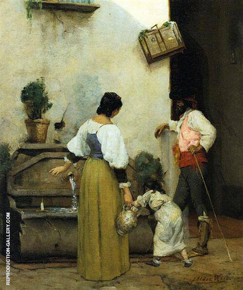 At The Water Trough 1877 By J. Alden Weir