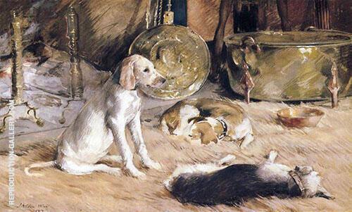 Fireside Dreams 1887 By J. Alden Weir