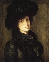 Girl in Black By J. Alden Weir