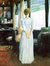 In The Livingroom By J. Alden Weir