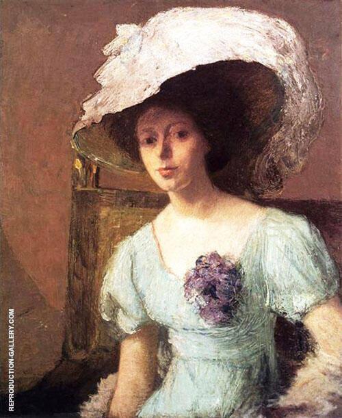 The Blue Gown By J. Alden Weir