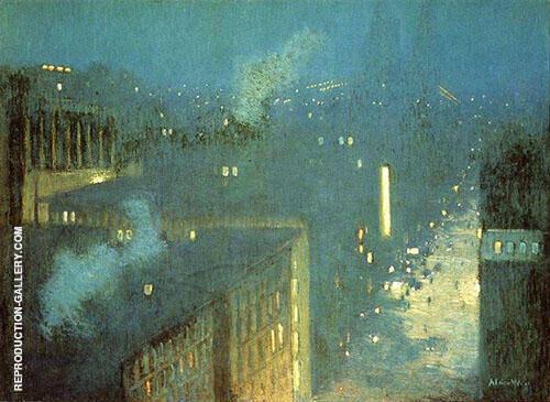 The Bridge Nocturne Aka Nocturne Queensboro Bridge 1910 By J. Alden Weir