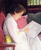 The Lace Maker 1915 By J. Alden Weir