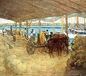The Wharves Nassau 1913 By J. Alden Weir