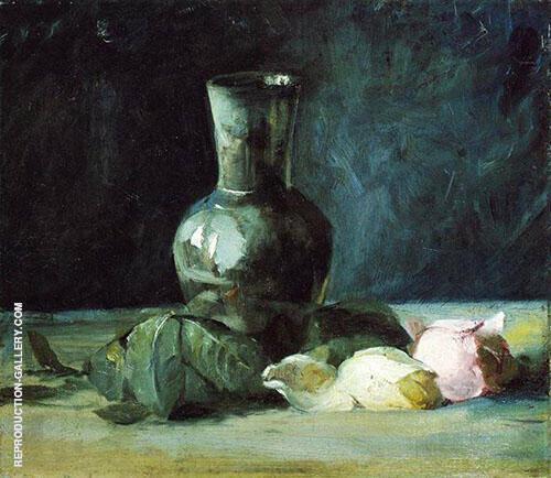 Vase and Roses 1889 By J. Alden Weir