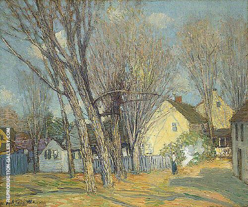 Windham Village By J. Alden Weir