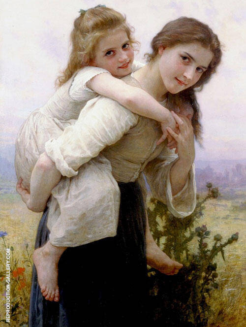 Agreeable Burden 1895 By William-Adolphe Bouguereau