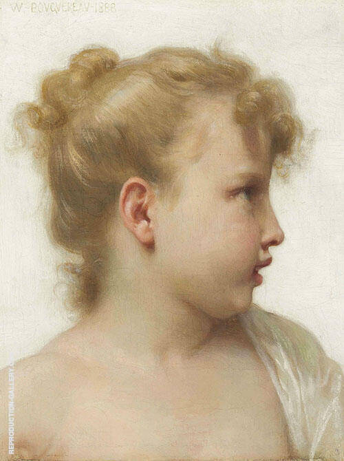 Face in Profile By William-Adolphe Bouguereau