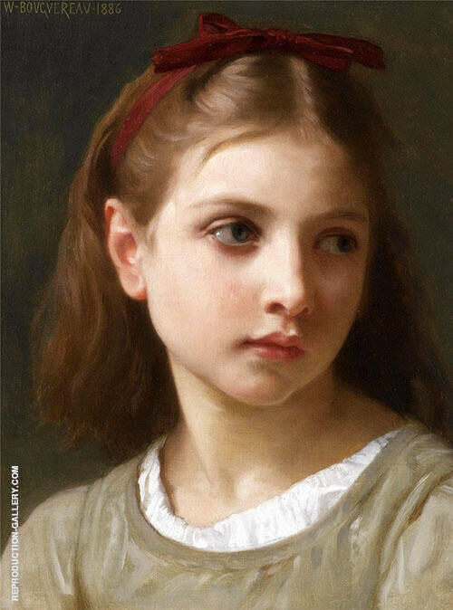 Girl 1886 By William-Adolphe Bouguereau